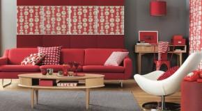 Como usar el color rojo en el hogar y no caer en lo burdo
