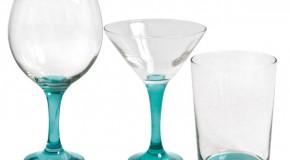 Utiliza la cristalería como elemento decorativo